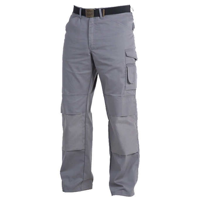 Skillers Poly Cotton Knee Pad Pants - Gray