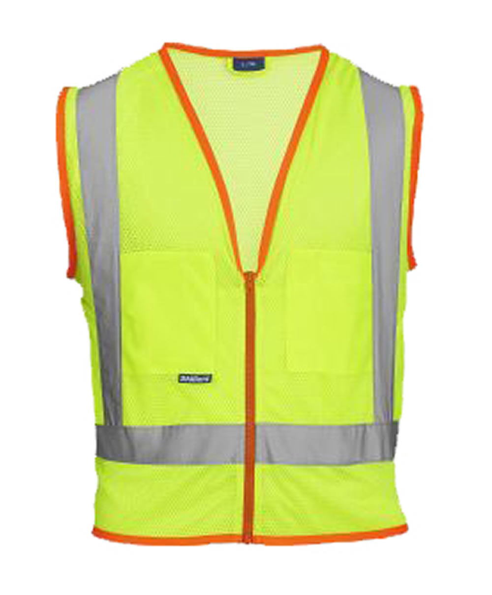 Skillers High Visibility Mesh Safety Vest – Lime Green