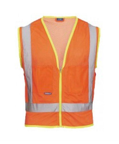 Skillers High Visibility Mesh Safety Vest - Orange