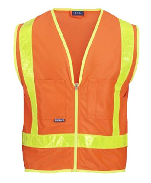 Skillers High Visibility Safety Vest - Orange Solid Vest