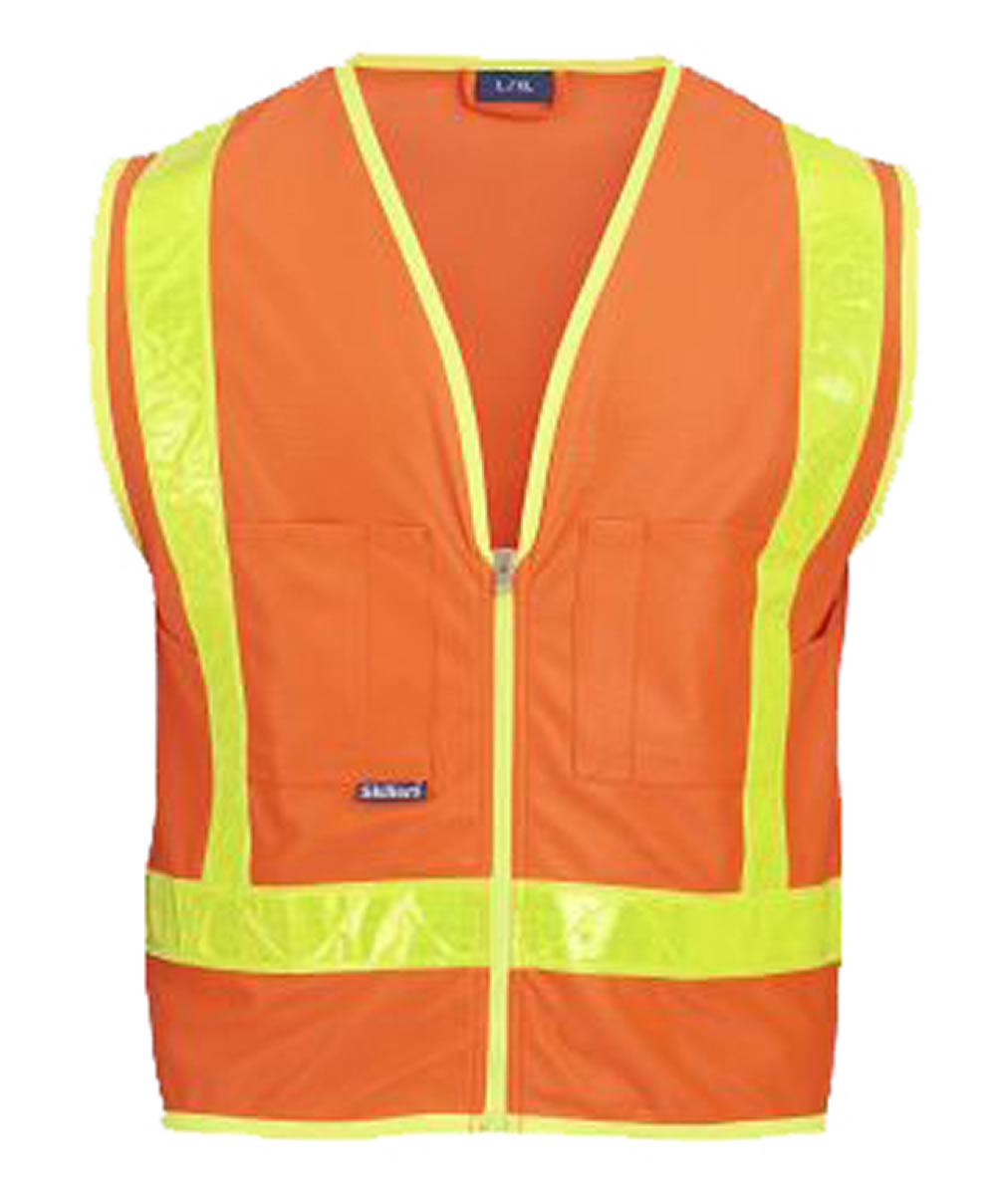 Skillers High Visibility Safety Vest – Orange Solid Vest
