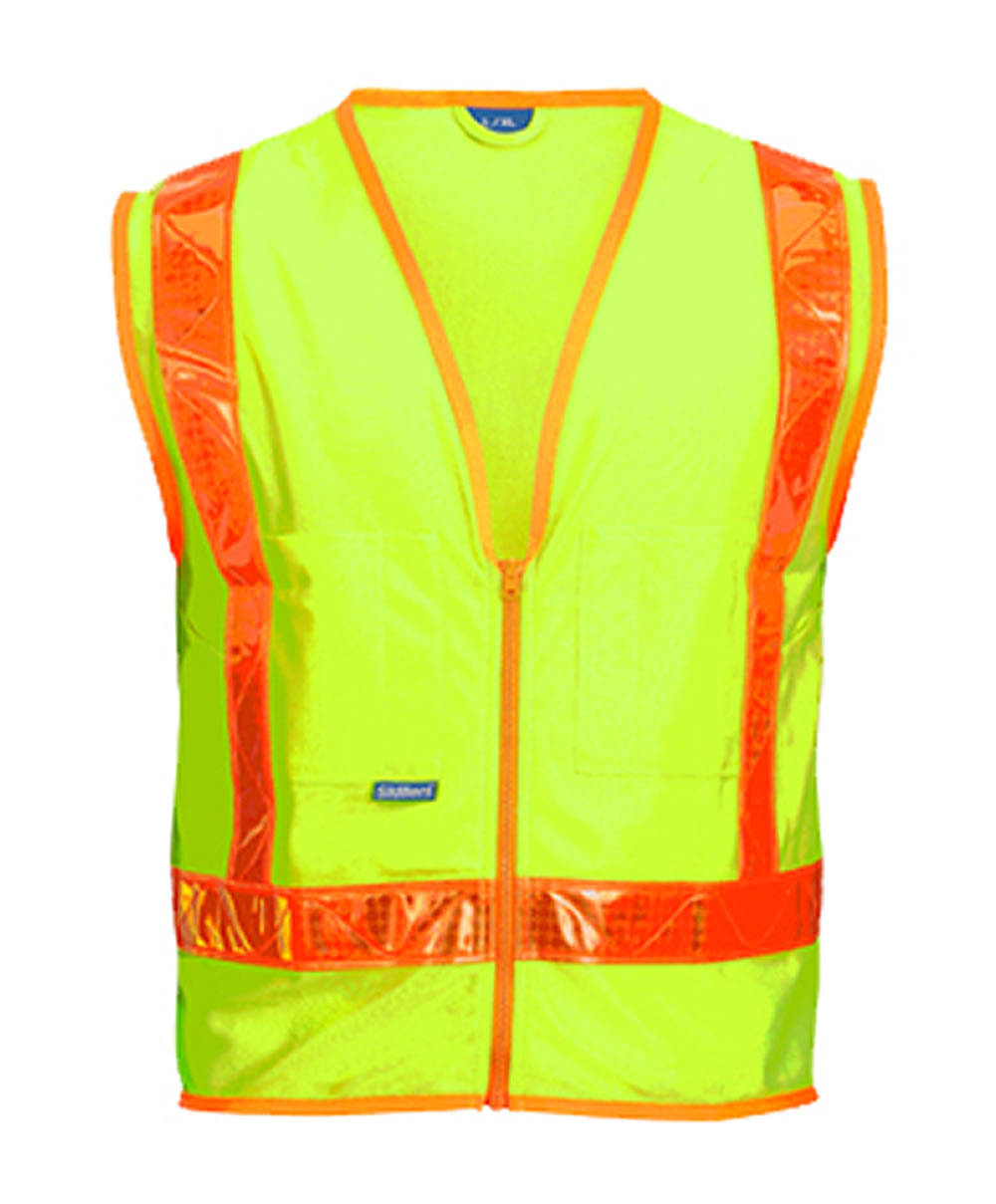 Skillers High Visibility Safety Vest – Lime Green Solid Vest
