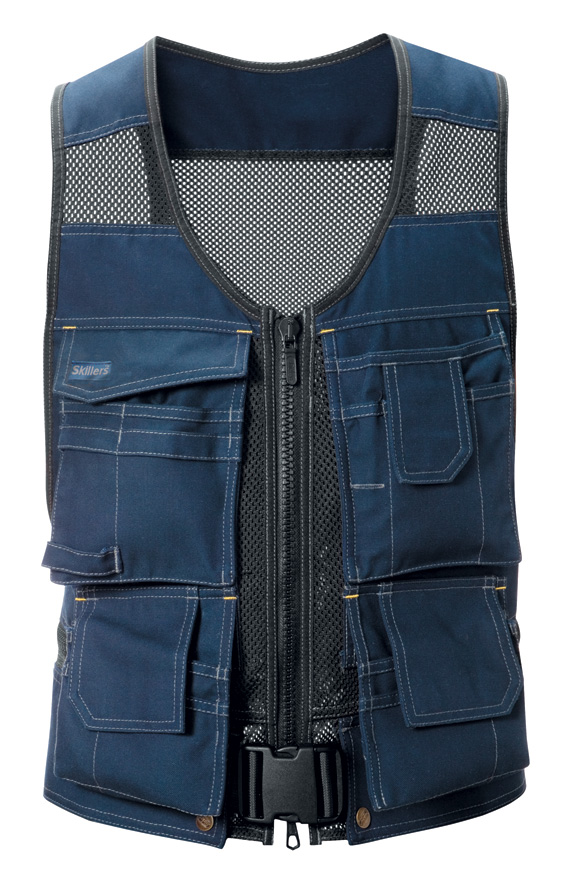 SKILLERS Flexi Tool Vest – Super Canvas, Navy Blue (Discontinued)