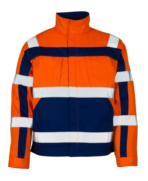 Cameta Jacket Orange/Navy