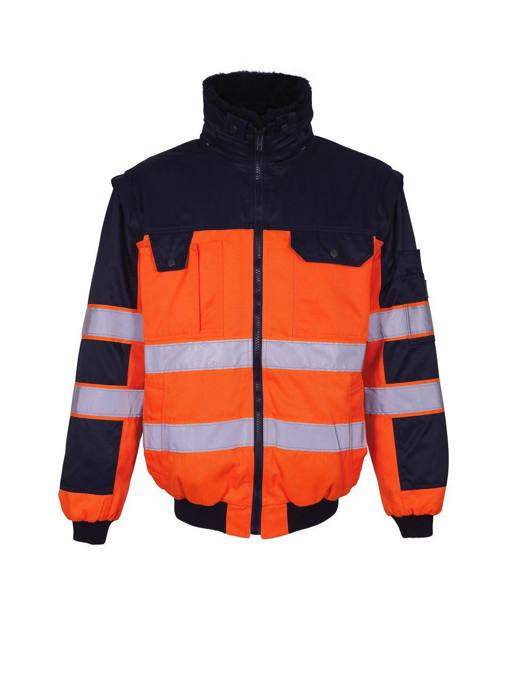 Livigno Pilot Jacket Hi Vis Orange/Navy