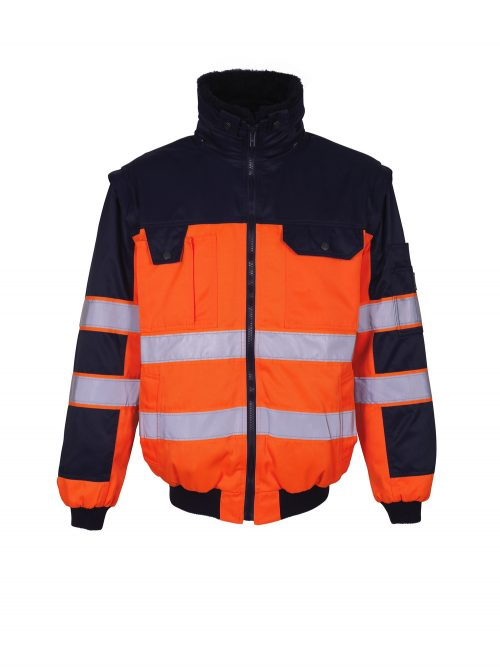 Livigno Pilot Jacket Hi Vis Orange/Navy