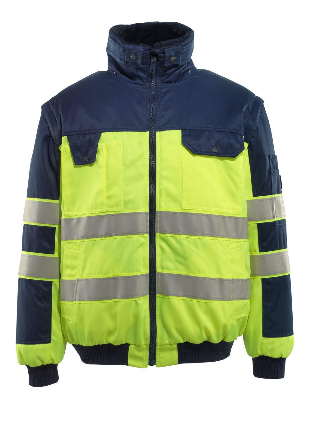 Livigno Pilot Jacket Hi Vis Yellow/Navy