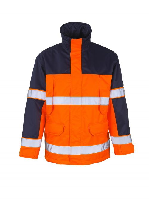 Savona Jacket Hi Vis Orange/Navy