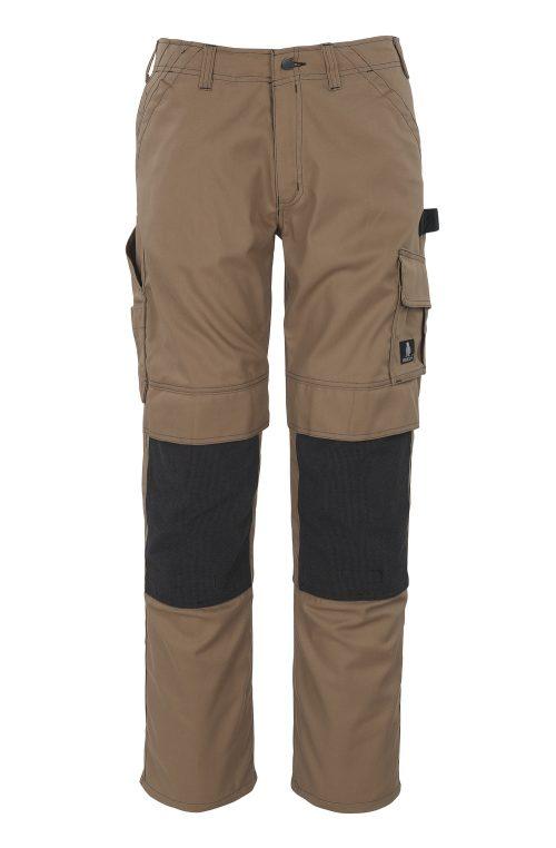 Lerida Trousers with Kevlar® Knee Pad Pockets Brown