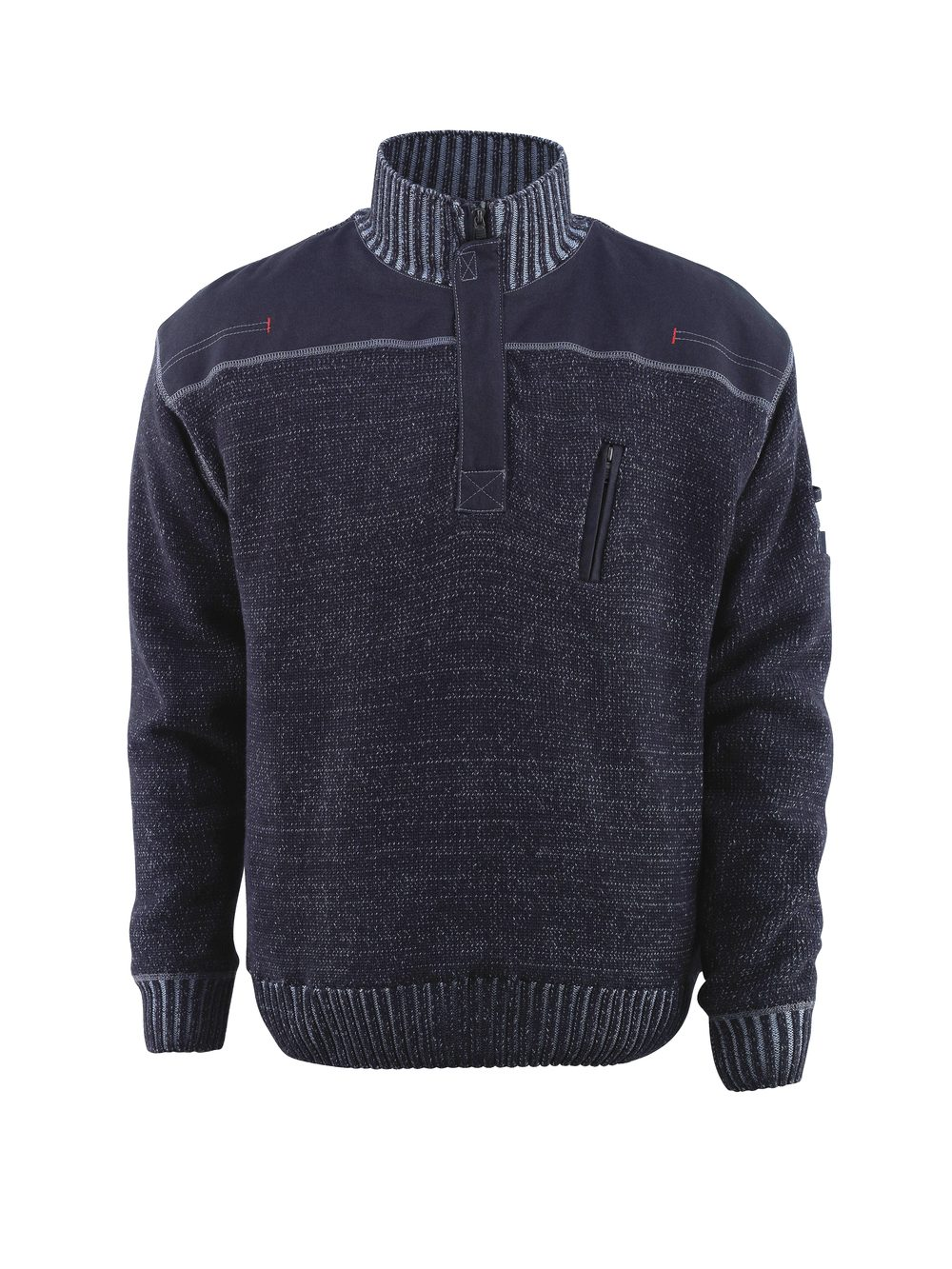 NAXOS KNITTED PULLOVER - BLUE