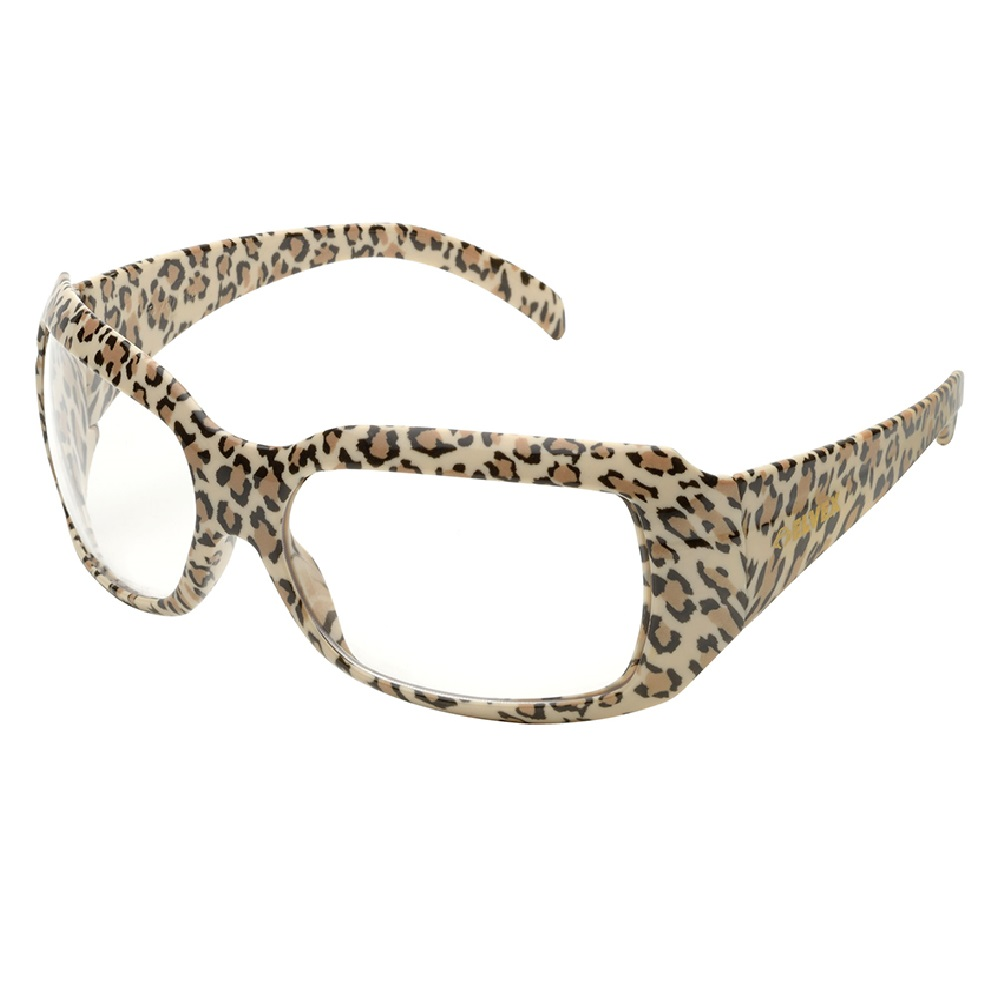 Elvex CHICA Safety Glasses with Leopard Frame, SG-42