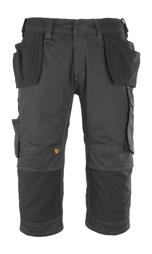 MASCOT Lindau 3/4 Length Black Craftsmens Trousers 14449-442-09