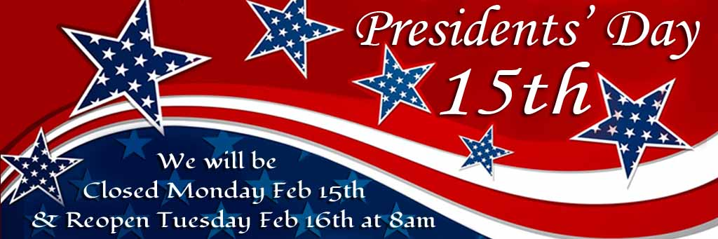 Closed on Presidents Day