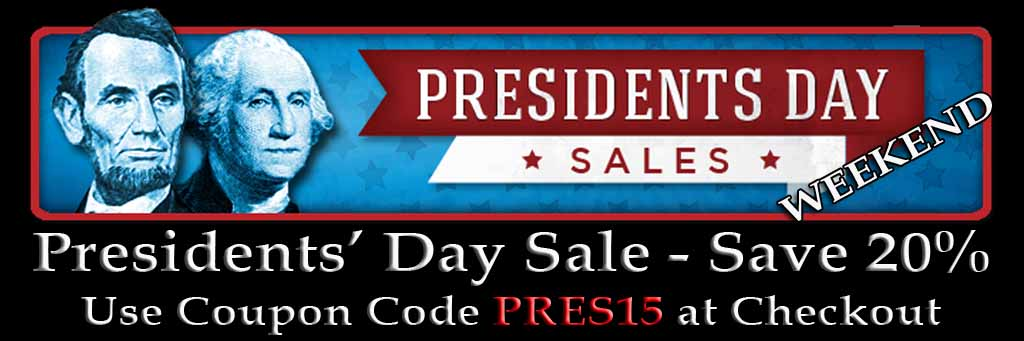 President Day Weekend 20% off Sale Banner