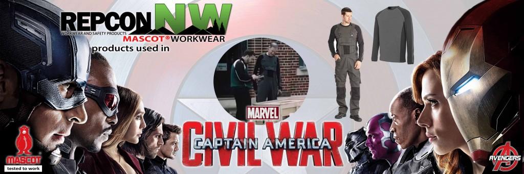 RECPON NW MASCOT Workwear in Marvel Civil War Banner
