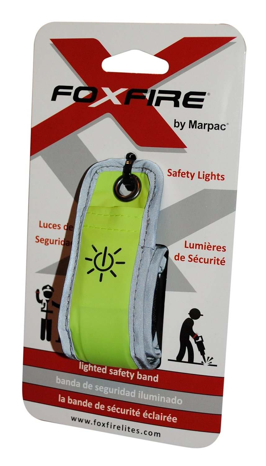 FoxFire LED Lighted Safety Band - Green