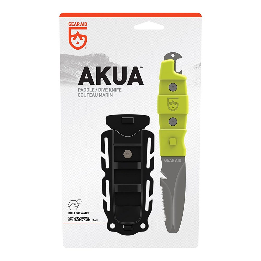 Gear Aid Akua Dive and Rescue Blunt Tip Waterproof Knife with Serrated Blade