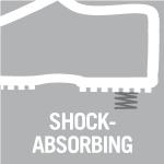 Shock-absorbing comfort sole