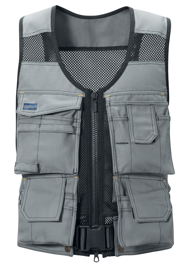 SKILLERS Flexi Tool Vest – Super Canvas, Gray (Discontinued)