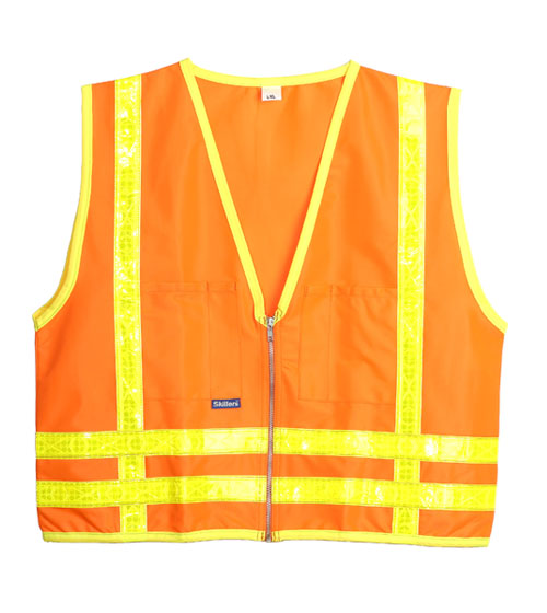Skillers High Visibility Orange Safety Vests