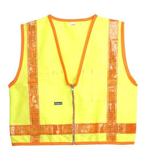 Skillers High Visibility Lime Green Safety Vests
